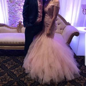Mori Lee dress Pink Prom mermaid